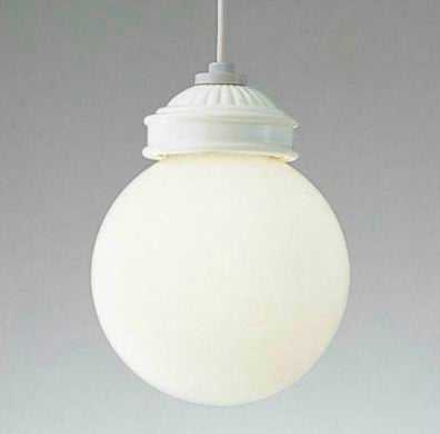 MP40427-01-90 マックスレイ 陶器飾り 球体ガラスセード コード吊ペンダント [LED電球色][ホワイト]