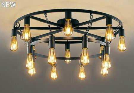 OC257119LC オーデリック アイアンリング 調光可能型 直付シャンデリア [LED電球色][~14畳]
