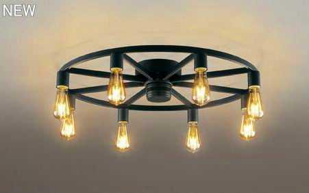 OC257120LC オーデリック アイアンリング 調光型 直付シャンデリア [LED電球色][~6畳]