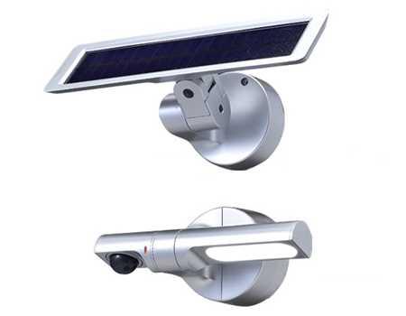 LS-10-S オプテックス CLED Sシリーズ ソーラー式LED センサーライト ■シルバー■白色LED あす楽対応