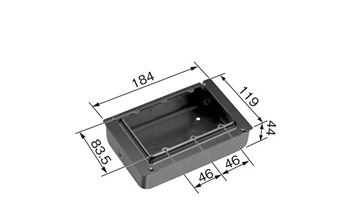 DS4913B パナソニック 金属製ボックス・カバー 塗装3コ用スイッチボックス(カバー付)