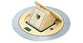 DU2103WT パナソニック 床用配線器具・電材 F型アップコン丸型 (電話用)(アイボリー)