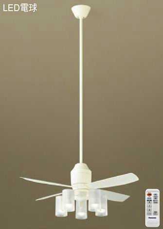 XS70512Z パナソニック DCモータータイプ φ110cm シーリングファン本体+パイプ+シャンデリア [LED電球色][ホワイト]