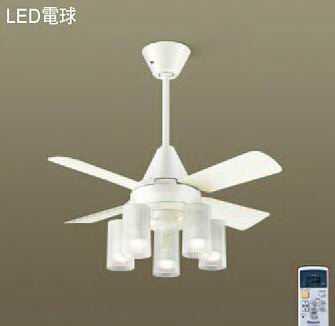 海外最新 XS95012Z パナソニック ACモータータイプ 90cm シーリングファン本体+パイプ+シャンデリア [LED電球色][ホワイト], JOY-SHOP a09b5b76