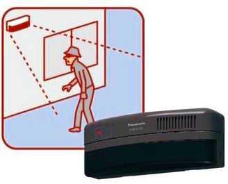 ECE1821AP パナソニック 小電力型 ワイヤレスコール 熱線センサー送信器 (防雨形)(屋側用)(ブラウン)