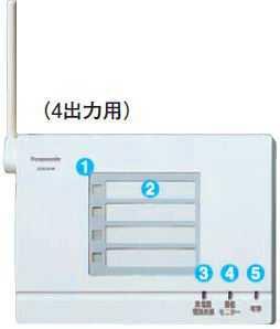 ECE5104 パナソニック 小電力型 ワイヤレス 接点出力受信器(4出力用)