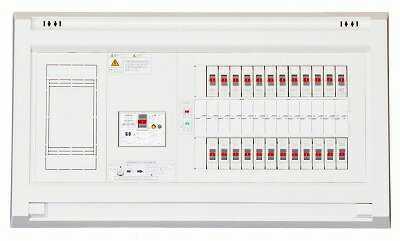 YALG34062 テンパール 住宅用分電盤 パールテクト 扉なし/リミッターあり/主幹40A/分岐6/予備2/取付スペースなし/露出・半埋込形