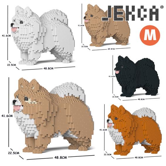 蔵 JEKCA ジェッカブロック ホビー パズル 立体パズル 値下げ ブロック 02C CM19PM02 ポメラニアン スリービー Mサイズ ThreeB