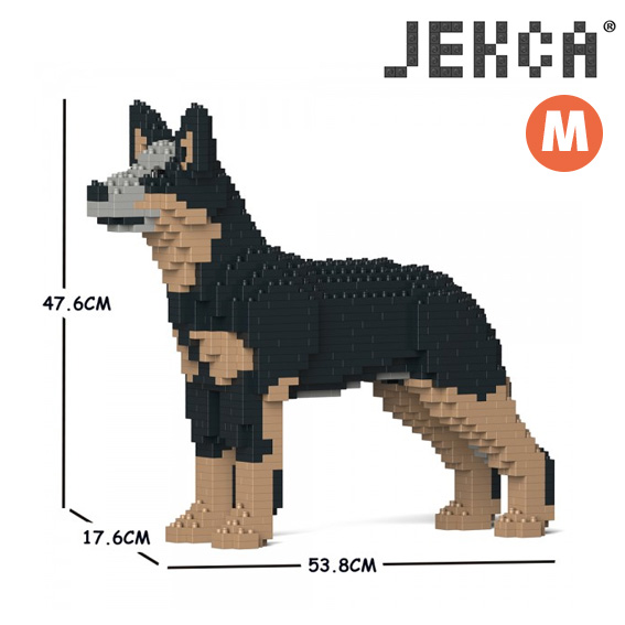 JEKCA ジェッカブロック ホビー パズル まとめ買い特価 立体パズル ブロック ThreeB スリービー サービス オーストラリアン Mサイズ ドッグ CM19PT69 キャトル