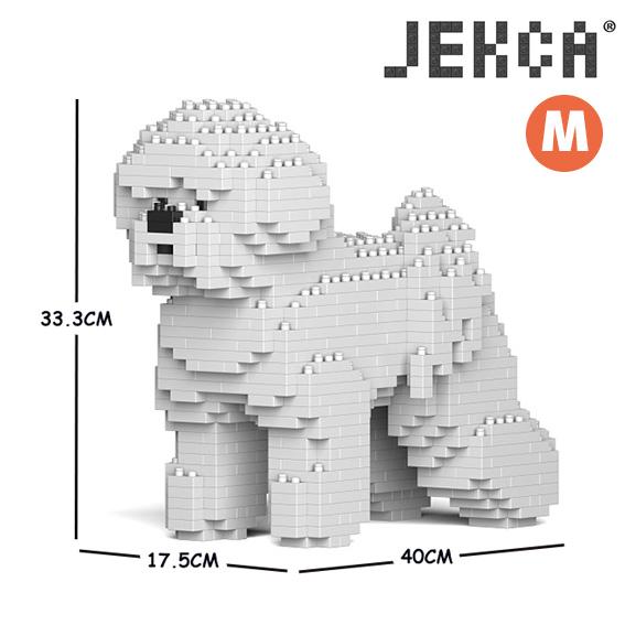 JEKCA ジェッカブロック (Mサイズ) 01C ビション·フリーゼ  CM19PT20