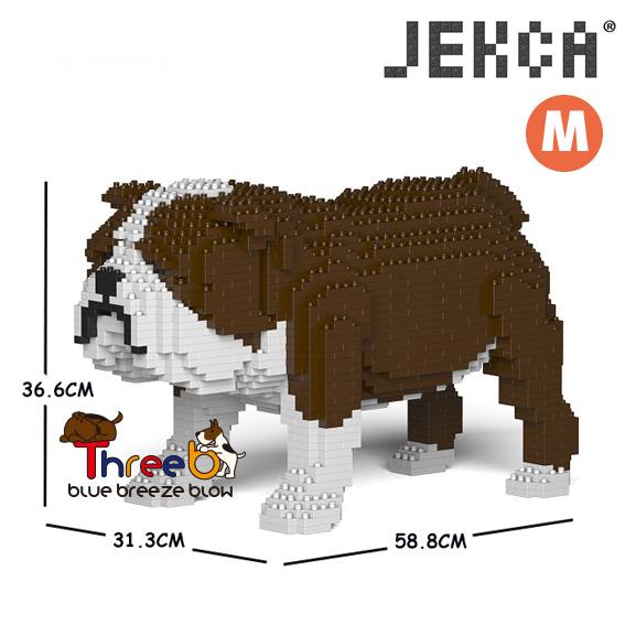 JEKCA ジェッカブロック ホビー パズル 立体パズル ブロック 贈与 ブルドッグ Mサイズ 国内在庫 スリービー イングリッシュ ThreeB CM19PT17-M01