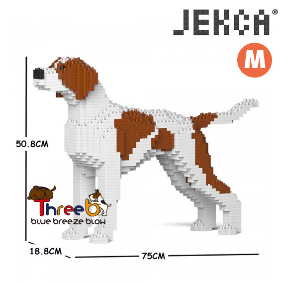 JEKCA ジェッカブロック (Mサイズ) イングリッシュ・ポインター CM19PT75-M01