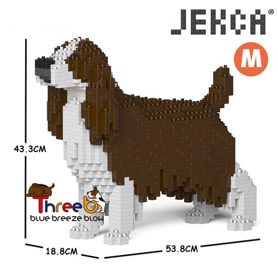 JEKCA ジェッカブロック ホビー 別倉庫からの配送 パズル 立体パズル ブロック ThreeB 大幅値下げランキング CM19PT42-M03 スプリンガー イングリッシュ スパニエル スリービー Mサイズ
