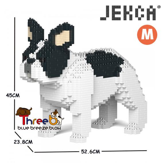 JEKCA 特価品コーナー☆ ジェッカブロック ホビー パズル 立体パズル ブロック ThreeB ブルドッグ フレンチ スリービー Sサイズ 再再販 CM19FB02-M04