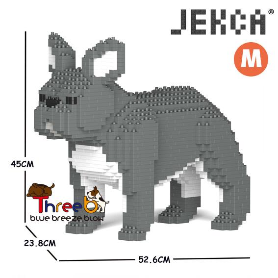 JEKCA ジェッカブロック 低価格 ホビー パズル 立体パズル ブロック CM19FB02-M05 格安 ThreeB ブルドッグ Sサイズ フレンチ スリービー