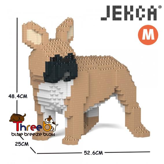 JEKCA ジェッカブロック ホビー 初回限定 パズル 立体パズル ブロック ブルドッグ ThreeB Mサイズ CM19FB03-M01 フレンチ スリービー 通販 激安