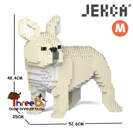JEKCA ジェッカブロック 低価格化 ホビー パズル 立体パズル ブロック ブルドッグ 開店祝い Mサイズ スリービー CM19FB03-M02 フレンチ ThreeB