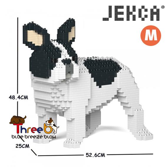 JEKCA ジェッカブロック ホビー パズル 立体パズル 配送員設置送料無料 ブロック スリービー CM19FB03-M04 Mサイズ 爆安プライス ThreeB ブルドッグ フレンチ