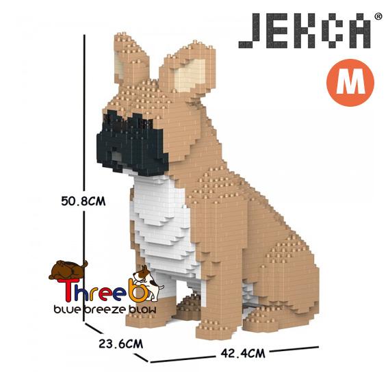 JEKCA ジェッカブロック ホビー パズル 立体パズル ブロック ブルドッグ CM19FB04-M01 Mサイズ 安心と信頼 フレンチ おトク スリービー ThreeB