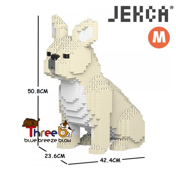 JEKCA ジェッカブロック 豪華な ホビー パズル 立体パズル ブロック ブルドッグ Mサイズ フレンチ スリービー ThreeB 数量は多 CM19FB04-M02
