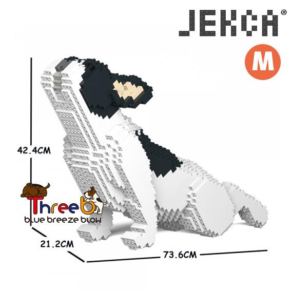 正規店 JEKCA ジェッカブロック ホビー パズル 立体パズル 売却 ブロック ThreeB ブルドッグ 05C CM19FB05-M04 スリービー Mサイズ フレンチ