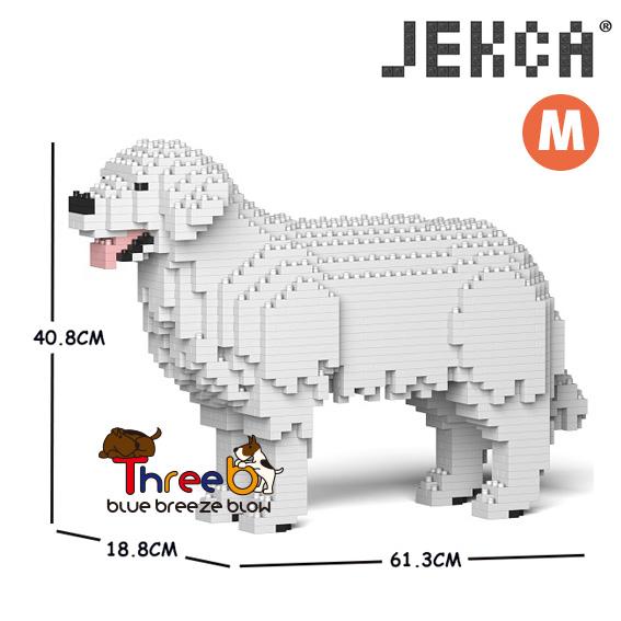 本物◆ JEKCA ジェッカブロック ホビー パズル ブロック 値引き 立体パズル スリービー レトリバー ThreeB ゴールデン Mサイズ CM19PT14-M02