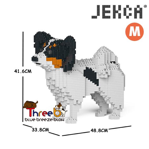 国内正規品 JEKCA ジェッカブロック ホビー パズル 立体パズル ブロック 01C ThreeB Mサイズ パピヨン 送料0円 スリービー CM19PT52-M01