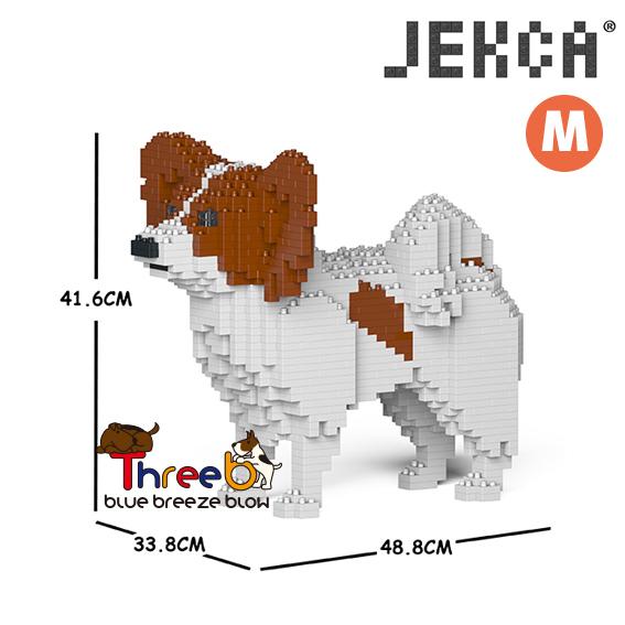 JEKCA ジェッカブロック 送料込 ホビー パズル 立体パズル ブロック CM19PT52-M02 驚きの値段で 01C パピヨン Mサイズ ThreeB スリービー