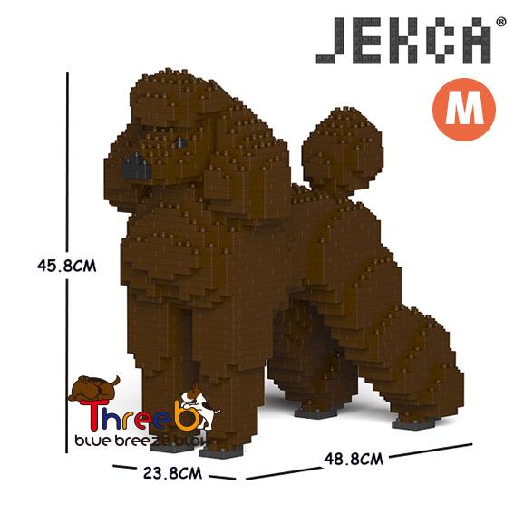JEKCA ジェッカブロック マート ホビー パズル 立体パズル ブロック Mサイズ スタンダードプードル ThreeB CM19PT04-S11 日本限定 スリービー
