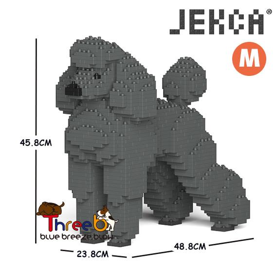 JEKCA ジェッカブロック ホビー 年中無休 パズル 立体パズル ブロック Mサイズ CM19PT04-M02 ThreeB 爆買いセール スリービー スタンダードプードル