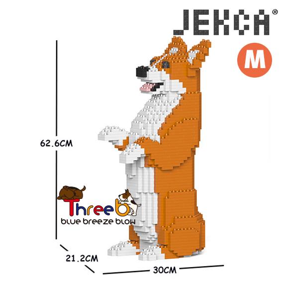 JEKCA 新入荷 流行 ジェッカブロック ホビー パズル ブロック 立体パズル ThreeB CM19WC05-M01 Mサイズ スリービー 特売 05C コーギー ウェルシュ