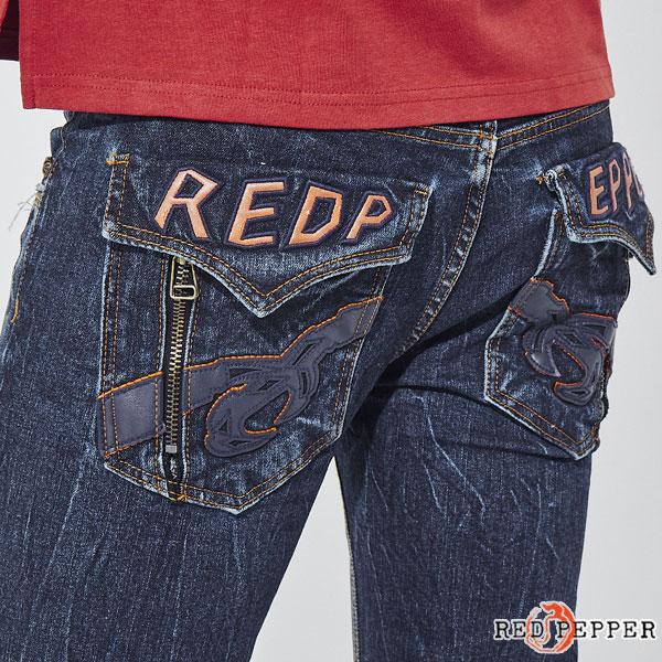 レッドペッパージーンズ RED PEPPER JEANS メンズ フラップポケットロゴ セミストレートデニム No.RJ2074