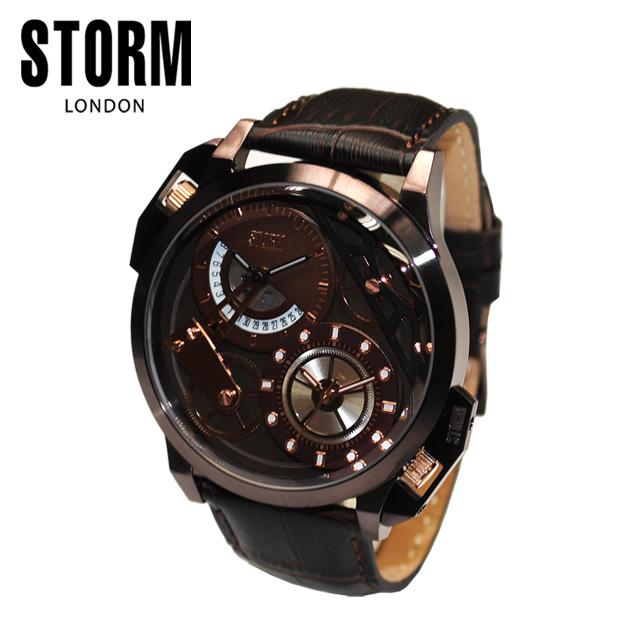STORM LONDON(ストームロンドン) 時計 腕時計 47147BRBR DUALMEC レザー メンズ 国内正規品【送料無料(※北海道・沖縄は1,000円)】