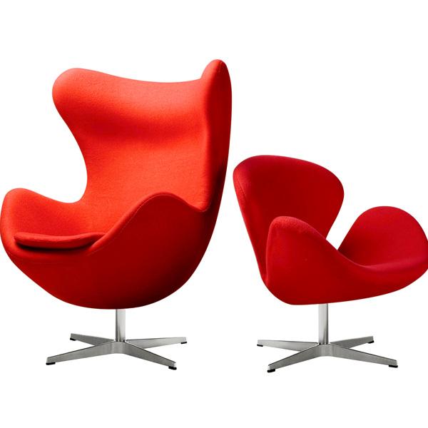 アルネ・ヤコブセンデザイン エッグチェア デザイナーズ家具 チェア リプロダクト ジェネリック家具