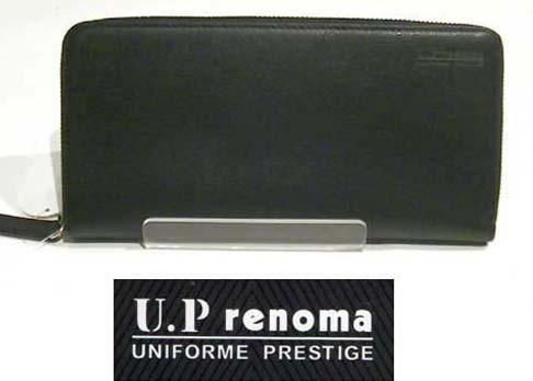 U.P renoma レノマ ラウンド束入れ・ブラック  (ファスナー長財布) 0426-38