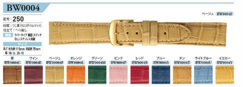 【お取寄せ品】バンビ 時計用ベルト「GREACIOUS(グレーシャス)」クロコダイルBWA004