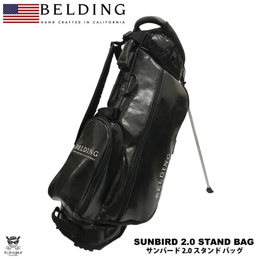 BELDING ベルディング キャディバッグ サンバード 2.0 スタンドバッグ ブラック グレーズ(黒)7インチロゴ 8.5型(HBCB-850115)※4/27以降の注文は5/13以降の発送予定
