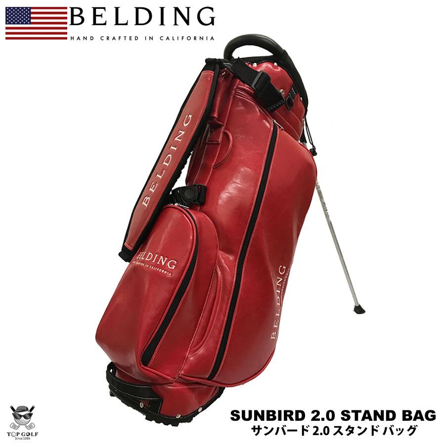 BELDING ベルディング キャディバッグ サンバード 2.0 スタンドバッグ フレーム グレーズ(レッド)7インチロゴ 8.5型(HBCB-850116)※4/27以降の注文は5/13以降の発送予定