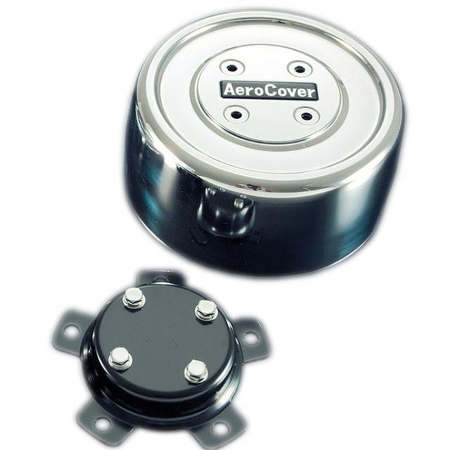 ATS エアロセンターキャップ 丸型 大型ISO10穴22.5インチ リア用1輪分 BKT(取付ステー) 付 ※BKTは車種別 [No12(リア) ]