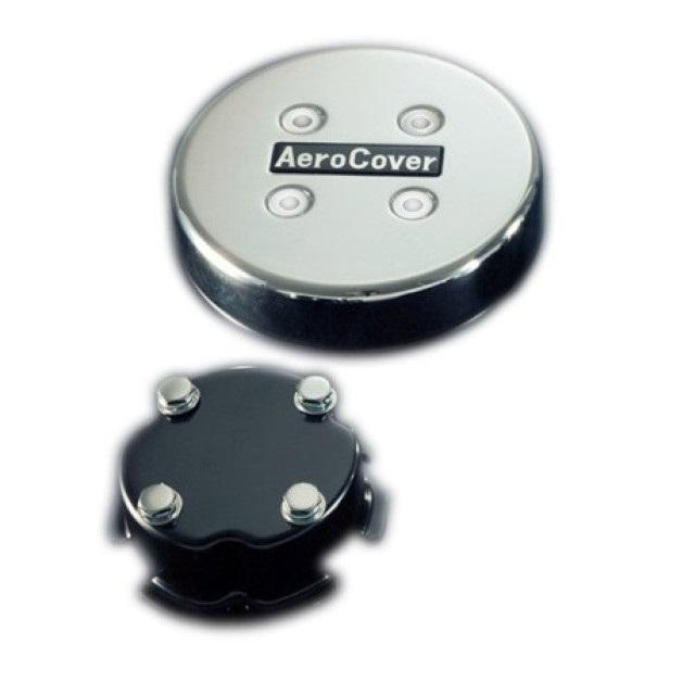 ATS エアロセンターキャップ 丸型 ISO大型19.5インチ8穴(4軸低床車用) フロント1輪分BKT(取付ステー) 付 ※BKTは車種別 [No14]