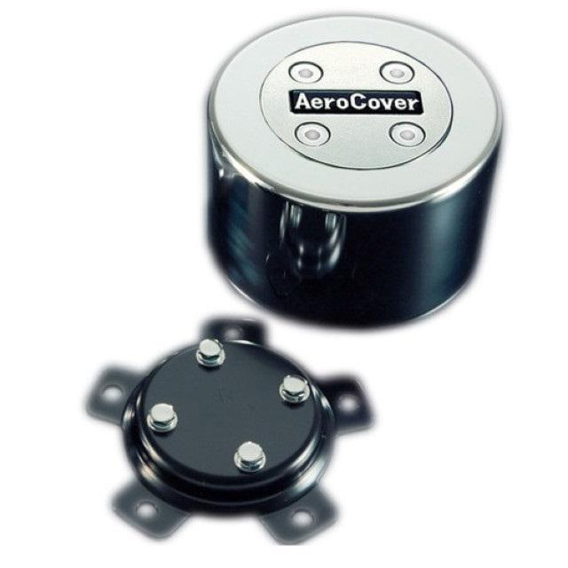 ATS エアロセンターキャップ 丸型 ISO大型19.5インチ8穴(4軸低床車用) リア1輪分 BKT(取付ステー) 付 ※BKTは車種別 [No14]