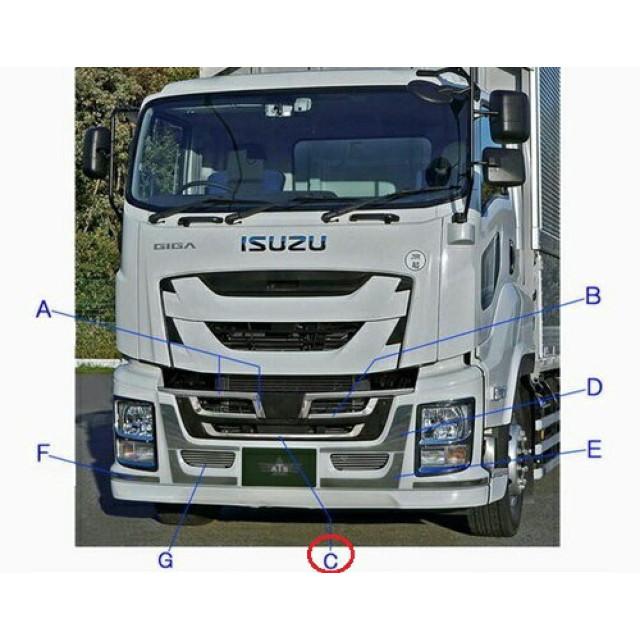 ATS ファイブスターギガ(H27.11~) 用バンパーグリルロアー [材質:ステンレス(SUS430) ][取付:両面][AB07I305] ※画像Cの部分