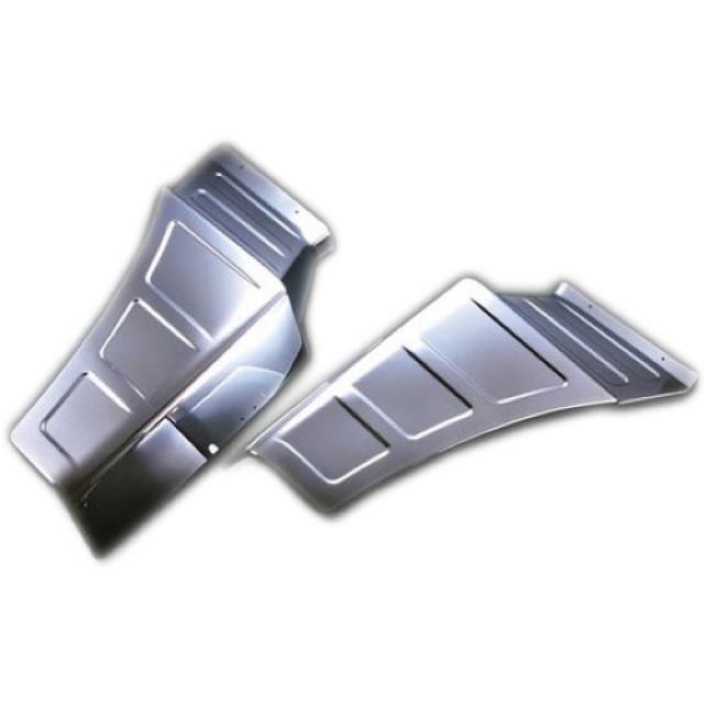 BW フロントマッドガードカバー L/R ふそう大型 17/NEWスーパーグレート(H19.4~ )用 樹脂メッキ かぶせ式 [3120224]