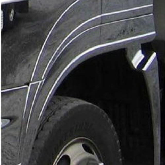 BW フロントオーバーフェンダー 2分割 L/R 日野大型 NEWプロフィア(H15.11~H29.4) 用 ※樹脂メッキ 交換式 [3124109]