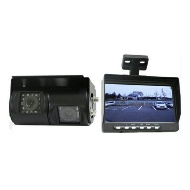 ドリームメーカー デュアルバックカメラ&7インチ液晶モニターセット ※12/24V共用 [MT-070RA]