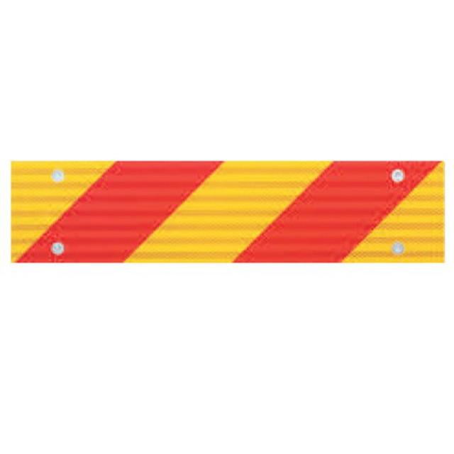 小糸製作所(KOITO) 大型後部反射器 [ゼブラ:4分割型] L/R 4枚セット (1枚あたりw282.5mm×135mm]) [NLR-4AZSN] [koito 反射板]