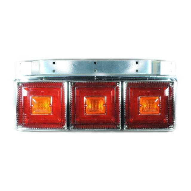 [お取寄せ] JB 角型<新>3連大型テールランプ L/R [赤・赤・赤(ウィンカーリレー付) ] ※DC24V専用 [9241310]