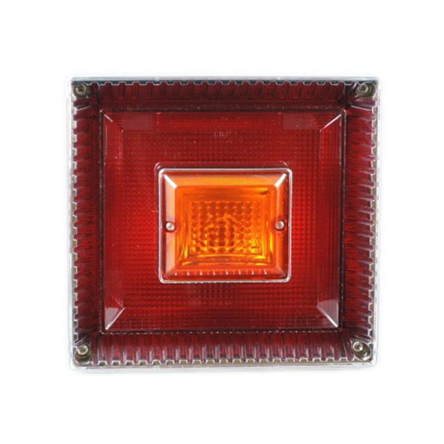 JB 角型<新>大型テールランプ単体 [赤/黄]1個(179×189×145mm) ※DC24V専用 [9241352]