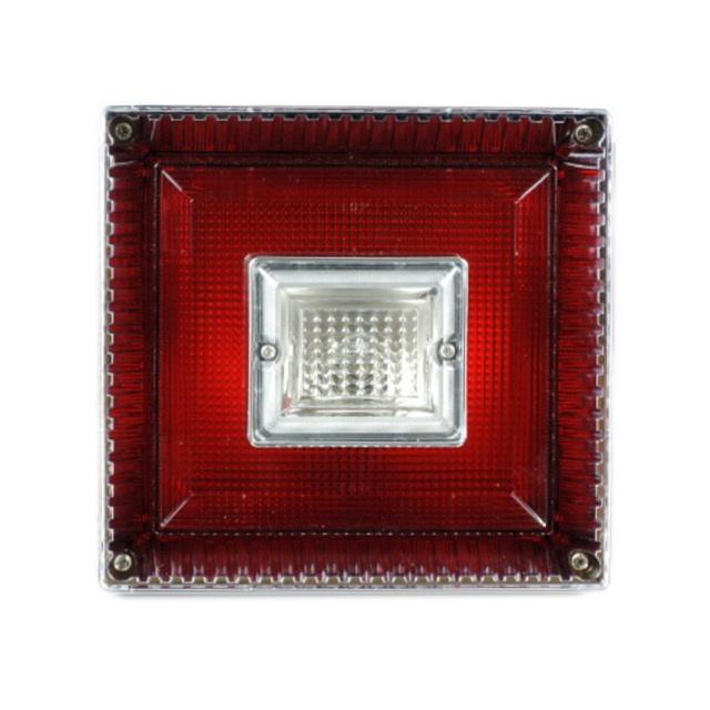 JB 角型<新>大型テールランプ単体 [赤/白]1個(179×189×145mm) ※DC24V専用 [9241365]