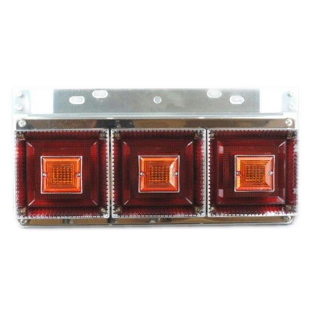 [お取寄せ] JB 角型小型3連テールランプ L/R [赤・赤(ウィンカーリレー付) ] ※DC24V専用 [9242018]